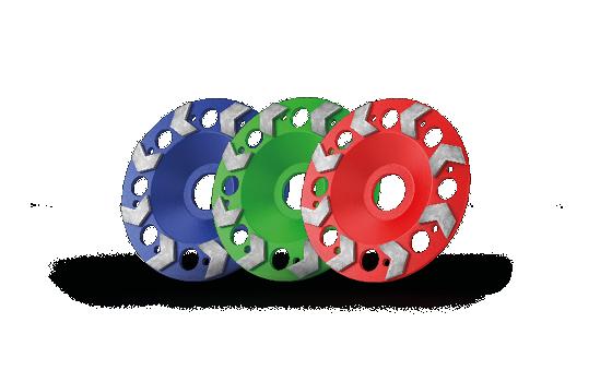 Arrow cup wheel